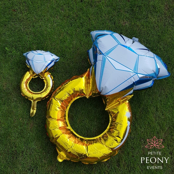 2 sizes Hen Party Bridal Shower Party Decor Engagement Ring Balloon Inflatable