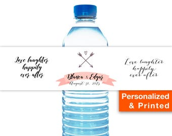 Printed Water Bottle Labels Personalized Wedding The Best Day Ever, Customized Wedding Water Bottle Labels, Water Bottle Labels for Wedding