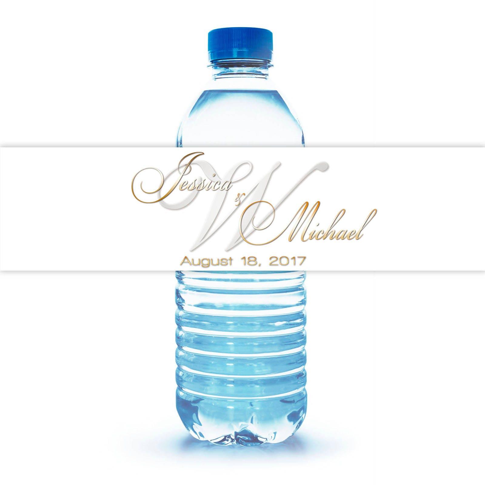 Custom Designed Water Bottle Labels // SAME DAY PROCESSING