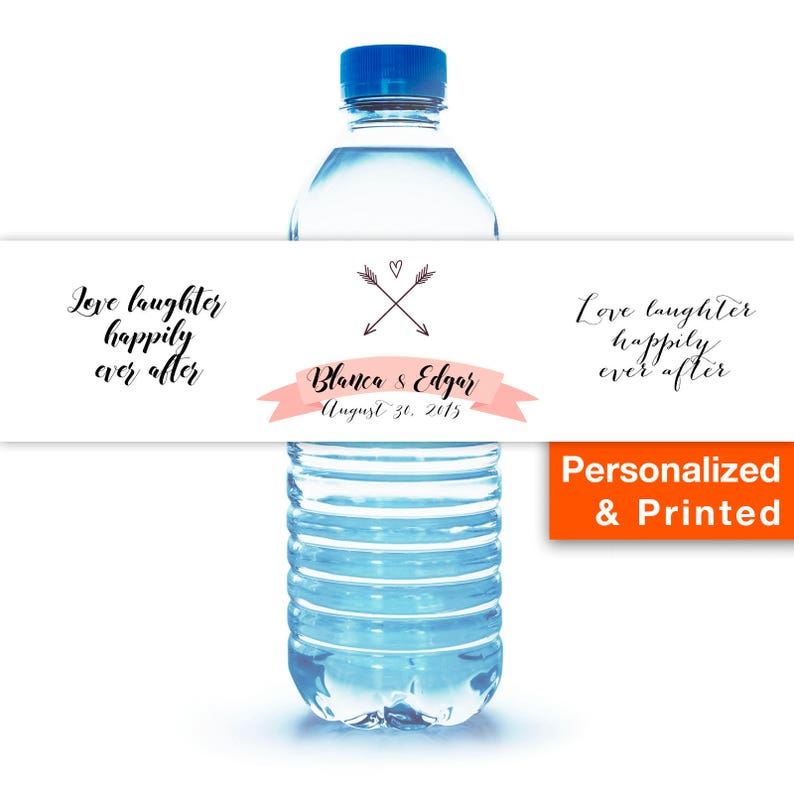 Printed Water Bottle Labels Personalized Wedding The Best Day Etsy