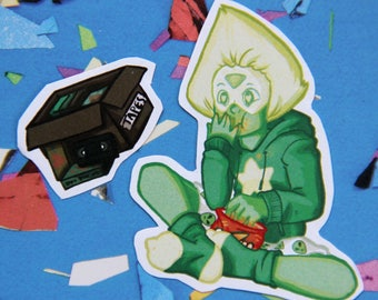 Itty Bitty Steven Universe Peridot Sticker Set
