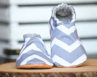 Chevron Crib Shoes, Baby Booties, Baby Shower