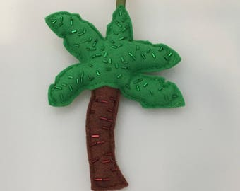 Felt palm tree decoration