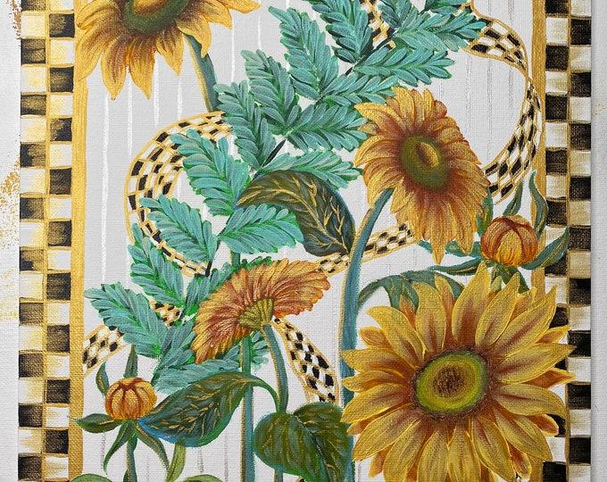 Golden Verbenas Painting Kit