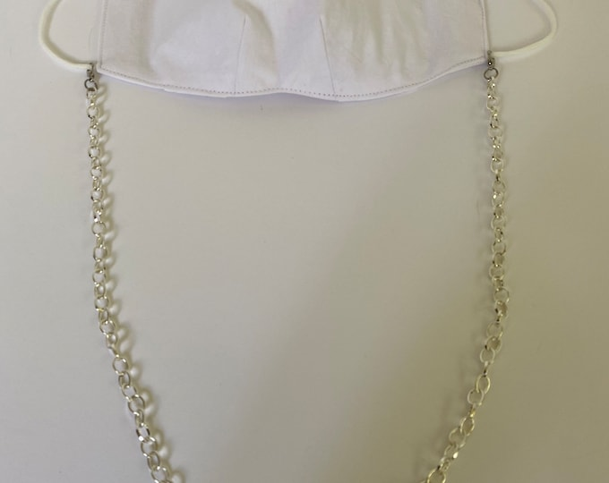Detachable Face Mask Necklace Strap | Chain Mask Holder Necklace - Mask in picture not included.
