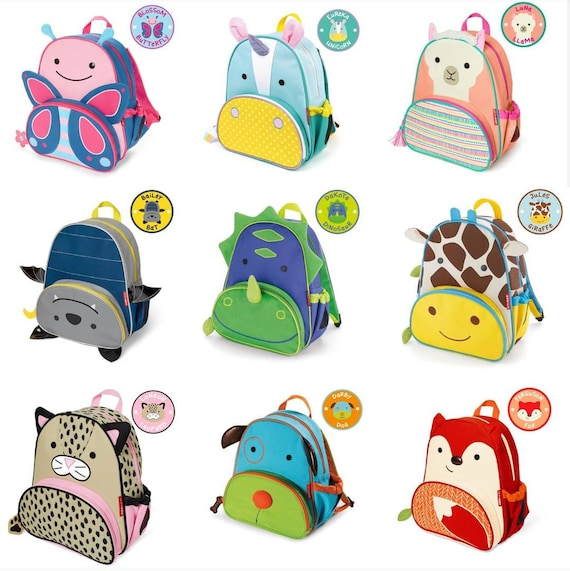 Zoo Animals Little Kid Sized Backpack Modified For Feeding Etsy