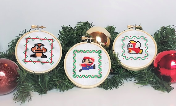 image 0 - Cross Stitch Christmas Decorations