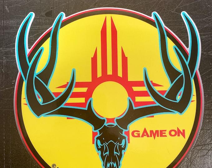 "Zia Typical mule deer buck -     GAME ON 6"" OR 3.5'' decal"
