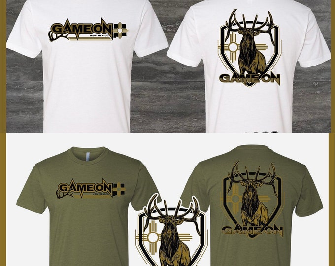 NM Game On Elk shirts -army green or white.