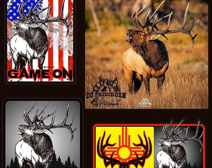"The ""Big Shot"" bull elk GAME ON decal"