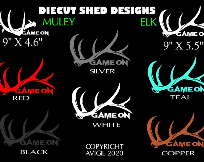"""GAME ON 9"""" die cut  shed decal"""
