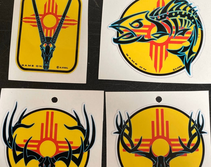 """New Mexico Game On 3.5"""" decal"""