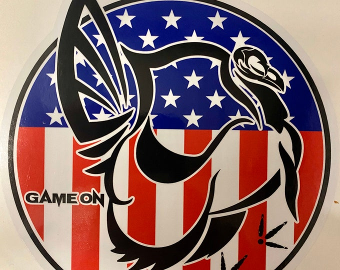 """Turkey NM or America GAME ON 6"""" decal"""