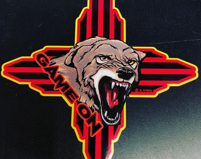 New Mexico Coyote GAME ON decal