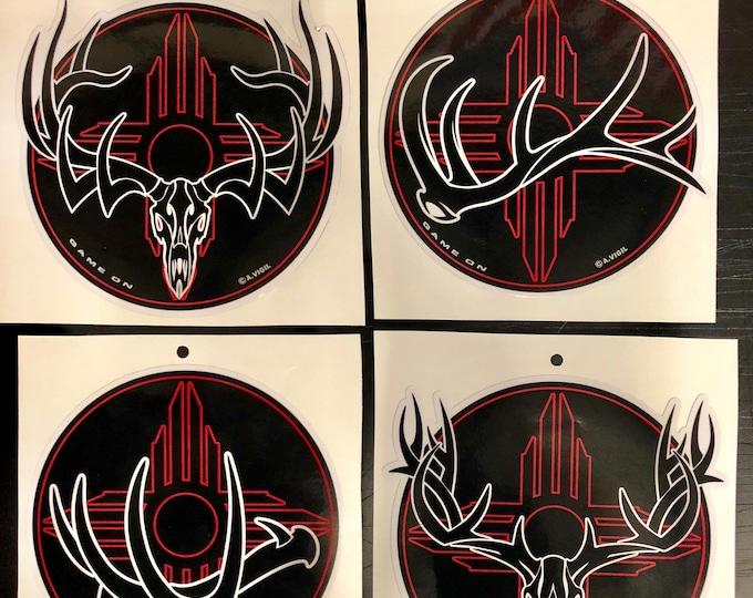 "Nightfall- New Mexico Bull or Buck GAME ON 6"" decal"