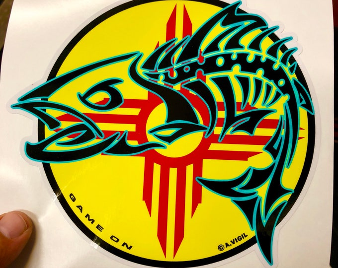 """New Mexico Trout GAME ON 6"""" decal"""