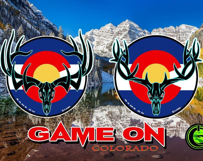 """Colorado Bull, Buck or fish GAME ON 6"""" decal"""
