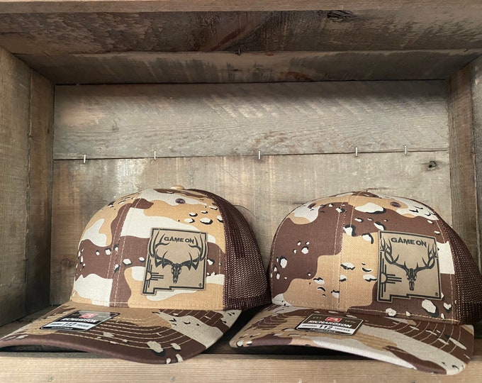 Game On NM Zia State hat (snap back hat) DESERT CAMO- other patch options available on request