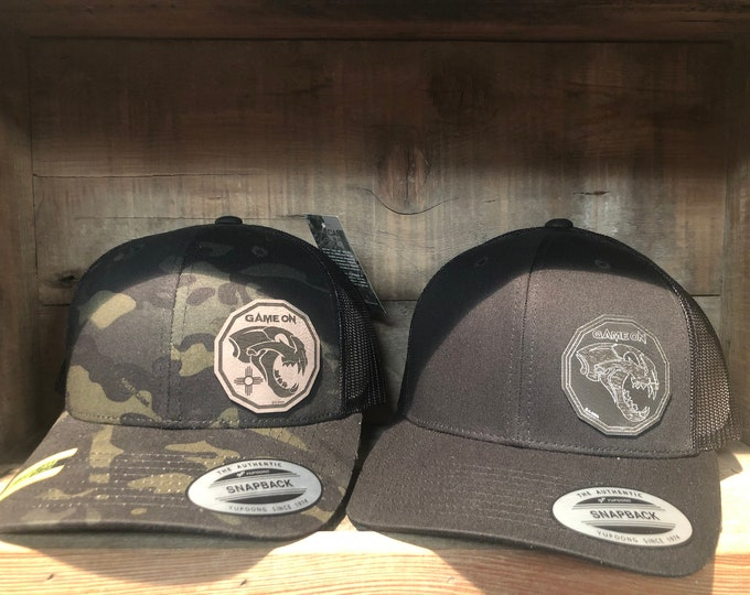 Game On Mountain Lion skull design (snap back hat)