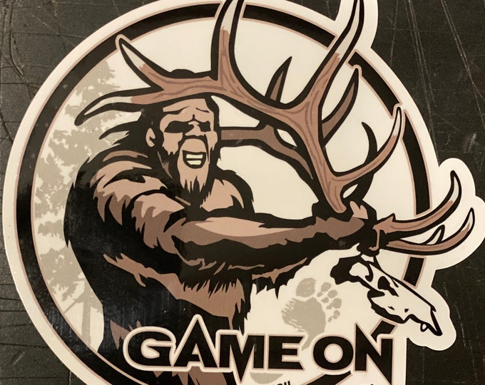 """Deadhead Squatch -     GAME ON 6"""" or 3.5"""" decal"""