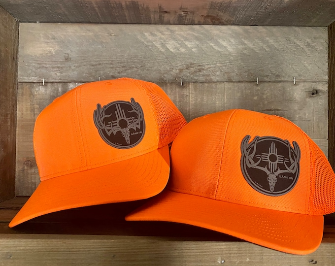 Game On Hunter Orange (snap back hat) with your choice of patch