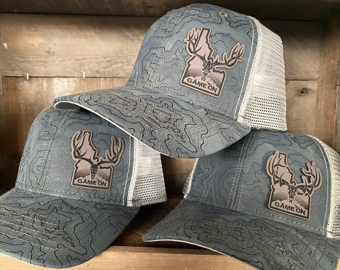 IDAHO Game On TOPO   (snap back hat) choose you color and design