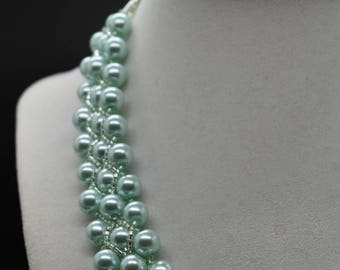 GLASS PEARL NECKLACE Statement Piece, Fashion Jewelry, Women's Necklace, Bold, Trending