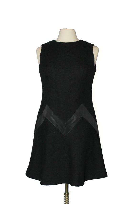 Vintage Black on Black Zig Zag Detail Cocktail Dre