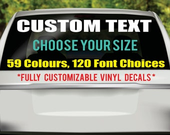 a29da13c Custom Windshield Decals, Windshield Decal, Custom Car Decal, Personalized  Company Name Decal, Custom Windshield Banner Decals, Car Sticker