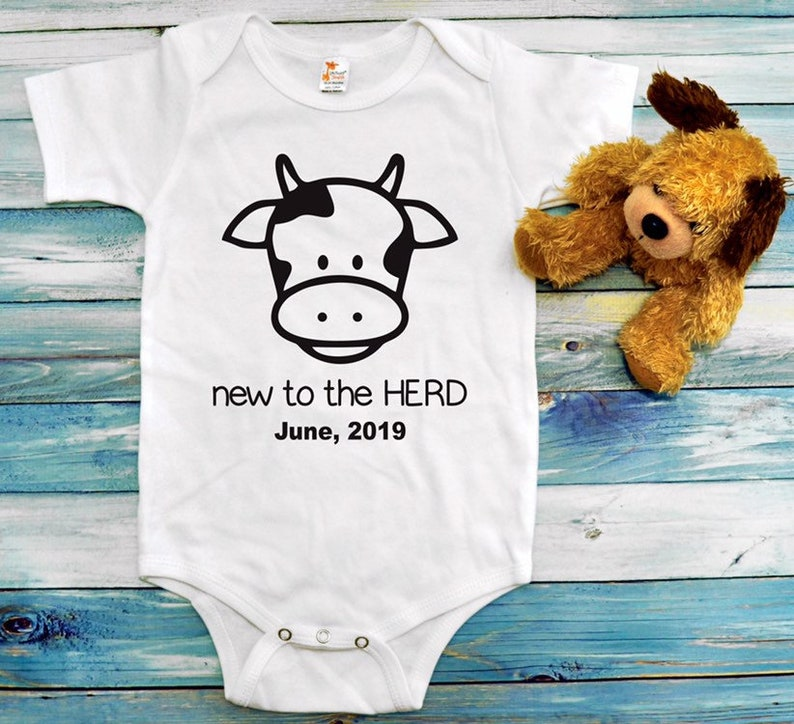 d6c6d2f1a New to the Herd onesie Baby onesie Pregnancy Announcement | Etsy