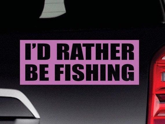 Vinyl Boat Window Auto Car Truck Decal Funny//Fishing//Letter Art Bumper Sticker