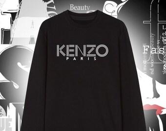 Kenzo Paris Inspired Warm and Cozy Unisex Sweatshirt Hoodie - 50% Cotton -  Size S-XXL a280efbc624