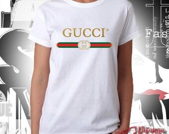 6b611e47a Gucci Logo Inspired Unisex/Woman's T-Shirt, Sweatshirt, Hoodie - 100%  Cotton - Size XS-XXL