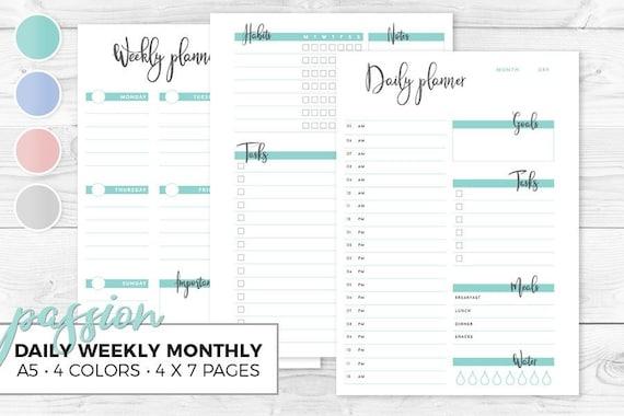calendario mensile per la perdita di peso