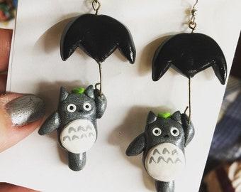 Totoro Inspired Earrings
