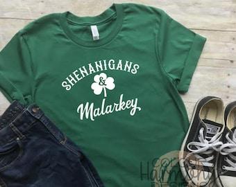 c0c623a5e461d St. Patrick's Day Shirt - Shenanigans & Malarkey - ADULT Unisex T-Shirt