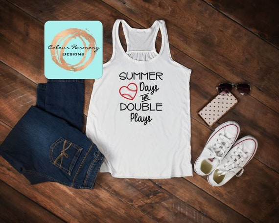 96258e11fe08 Baseball Softball Mom Dad Player T-Shirt Summer Days and
