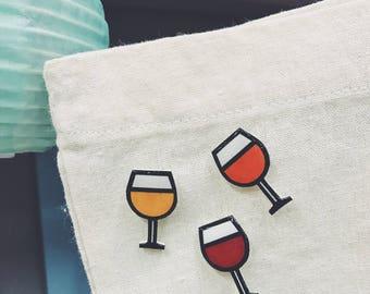 Wine Glass Handmade Pin