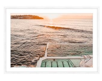 Made-to-order Bondi Beach Nature Water Photography Print Large Wall Art