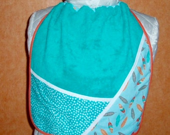 Home & Living Child's napkin   native bib   elastic towel canteen   large bib   Terry cloth cotton My cactus bib
