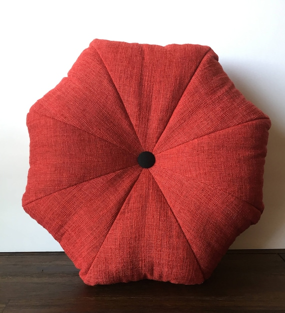 Octagon Shape Red pillow cover with