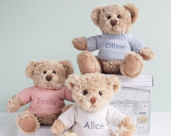 Personalised Traditional Teddy Bear