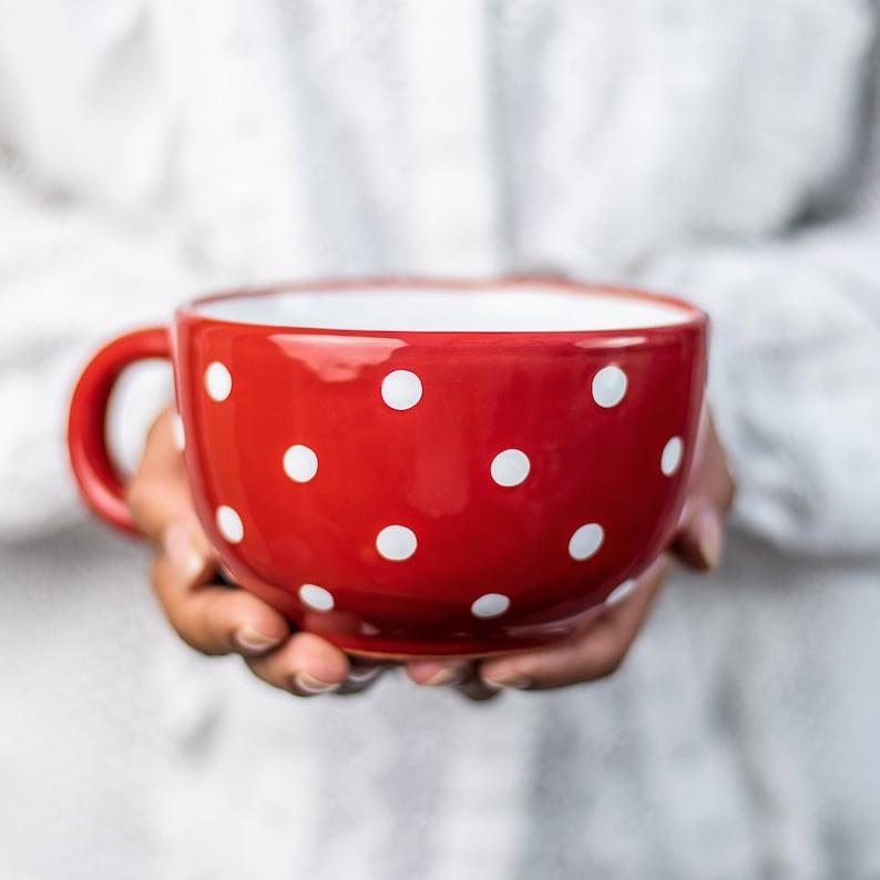 Large Coffee Mug Pottery Soup Mug Stoneware Coffee Mug | Etsy