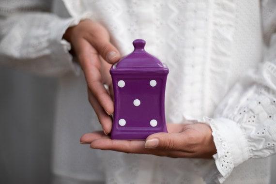 d5521187d6f5 Purple Spice Jar Kitchen Canister Storage Jar Unique | Etsy