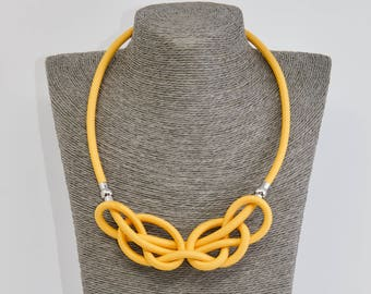 2v1 Single rope knot Celtic neckalce - yelow by Treda design