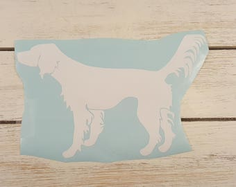 Setter Vinyl Decal, Car window Decal, English Setter, Hunting