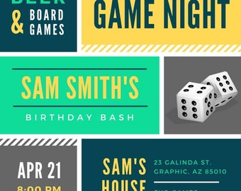 Game Night Party Invitation