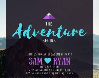 Adventure Engagement Party Invitation