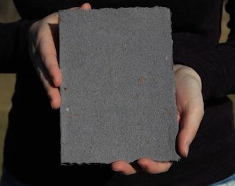 Dark Gray Hand Bound Notebook