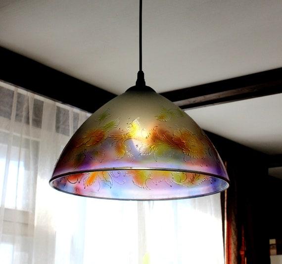 Kronleuchter Beleuchtung Glas Anhänger Leicht Glaskunst